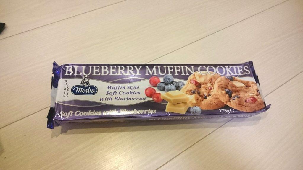 メルバの「ソフトマフィンクッキー ブルーベリー」のパッケージはこんな感じ。