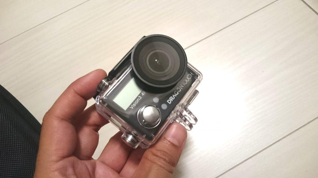 Dragon TouchのGoProクローンアクションカメラ、「Vision3 4K」の外見。
