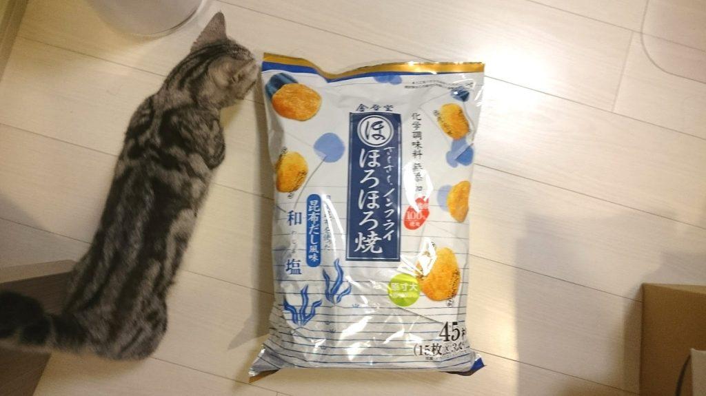 金吾堂製菓 ほろほろ焼 和塩はこんなに大きなパッケージ。