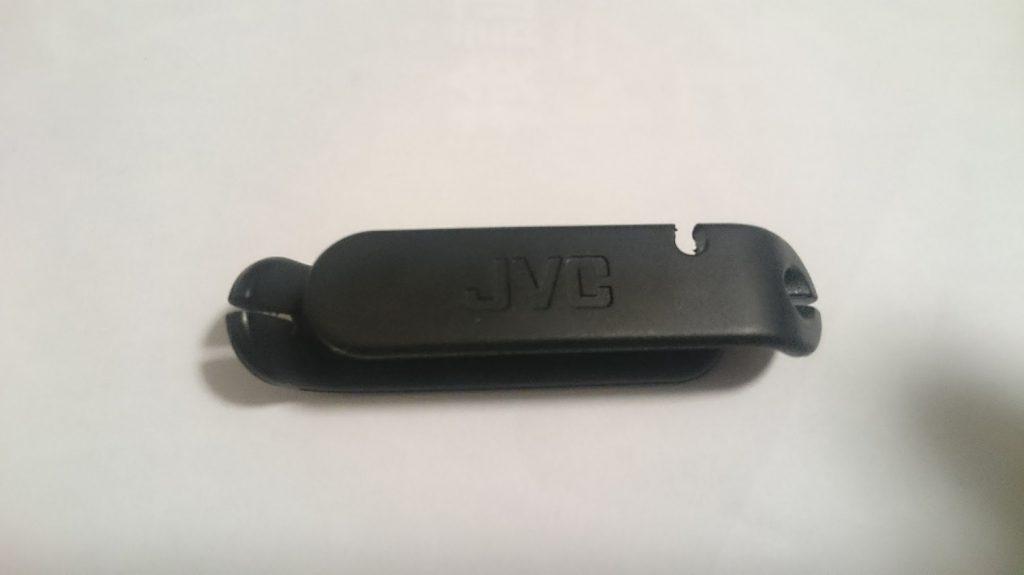 JVCのカナル型イヤホンHA-FX1X-BRに付属するコードキーパー。
