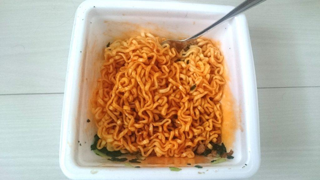 明星「汁なしの王道 汁なし担担麺 麺や金時」の完成形。