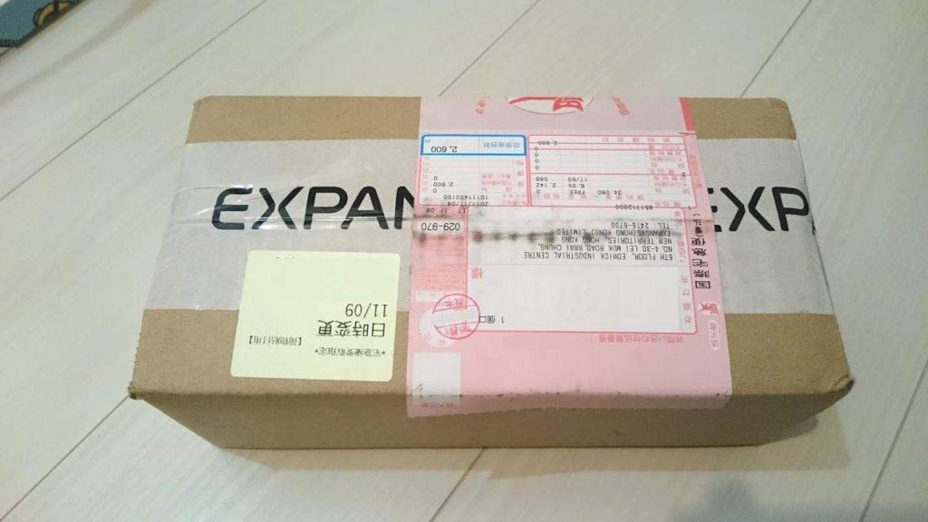 expansysから届いたXperia XZ1 compactの小包。
