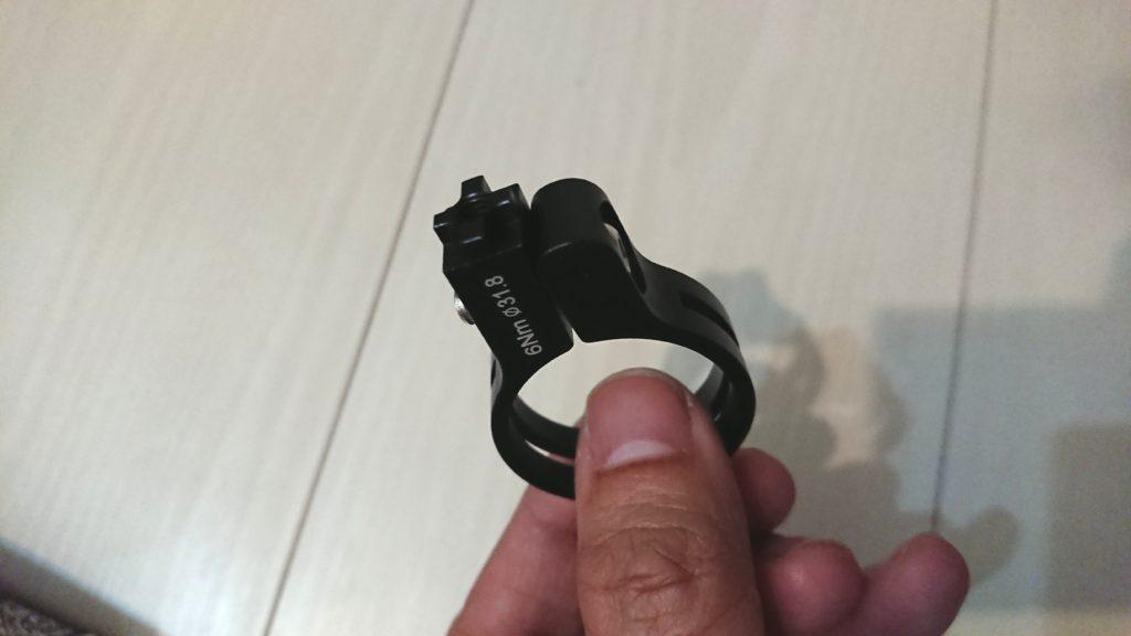 Docooler 自転車電話ホルダーのクランプはΦ31.8。