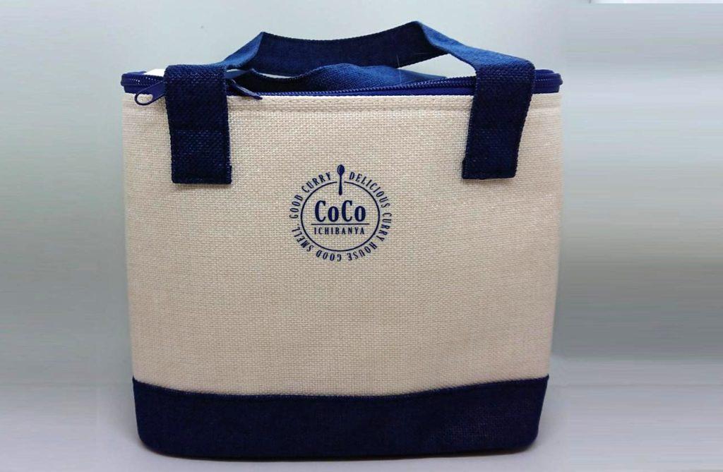 ココイチ福袋2018の福袋本体。保冷バッグになっている。