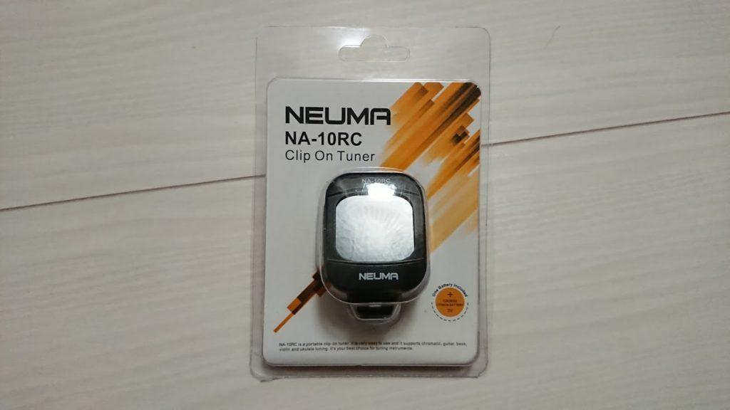 NEUMA「クリップ式チューナー NA-10RC」のパッケージ。