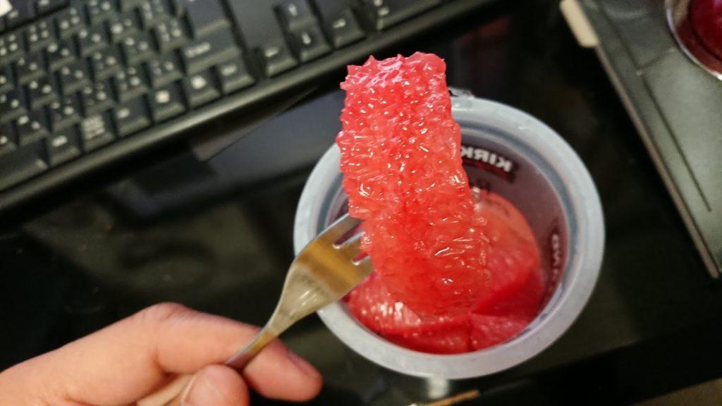 カークランド「グレープフルーツ・シラップづけ」を実食。