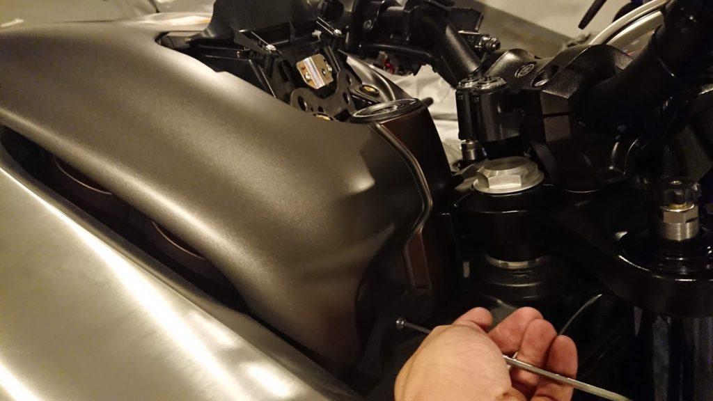 V-MAXのバッテリー交換手順その2。