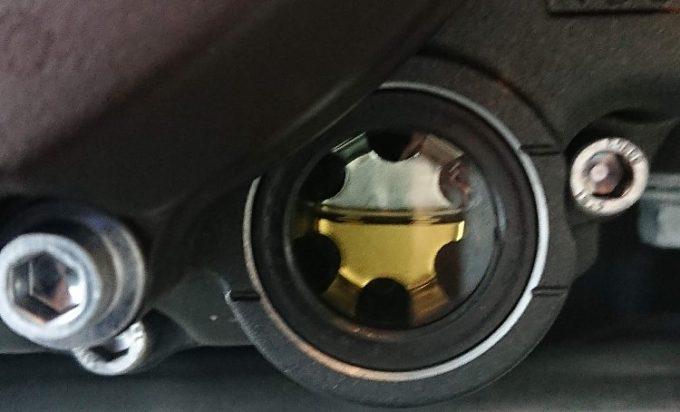 エンジンオイルも交換。