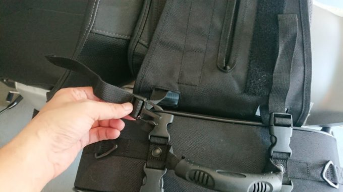 TANAX「ツアーシェルケース2」の左右バッグ取り付け方法。