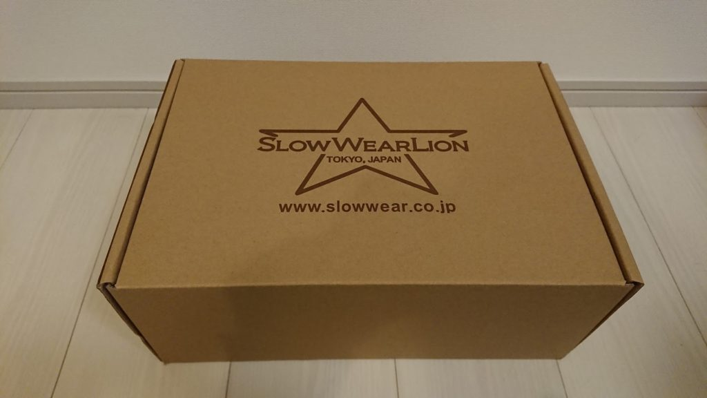 Slow Wear Lion「8593CAR」の外箱。
