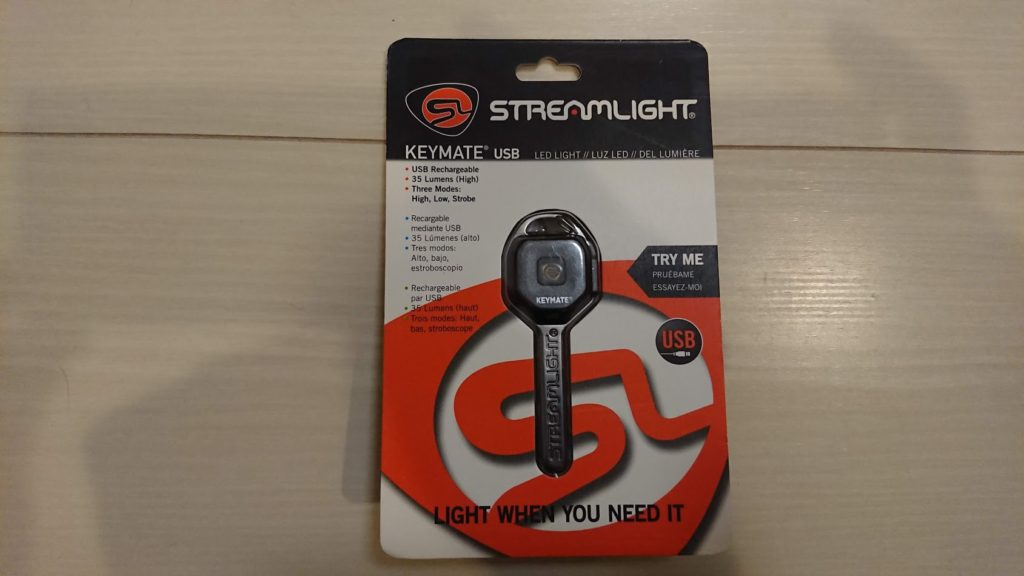 STREAMLIGHT「KEYMATE USB 73200」のパッケージ表面。