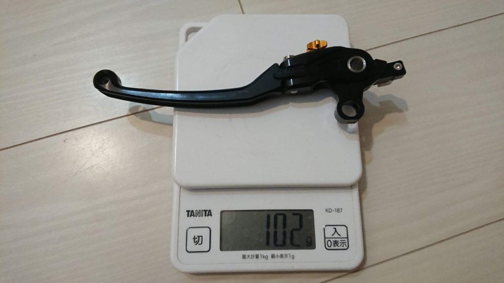 ダートフリーク「ZETA PILOTレバー」クラッチレバーの重さ。