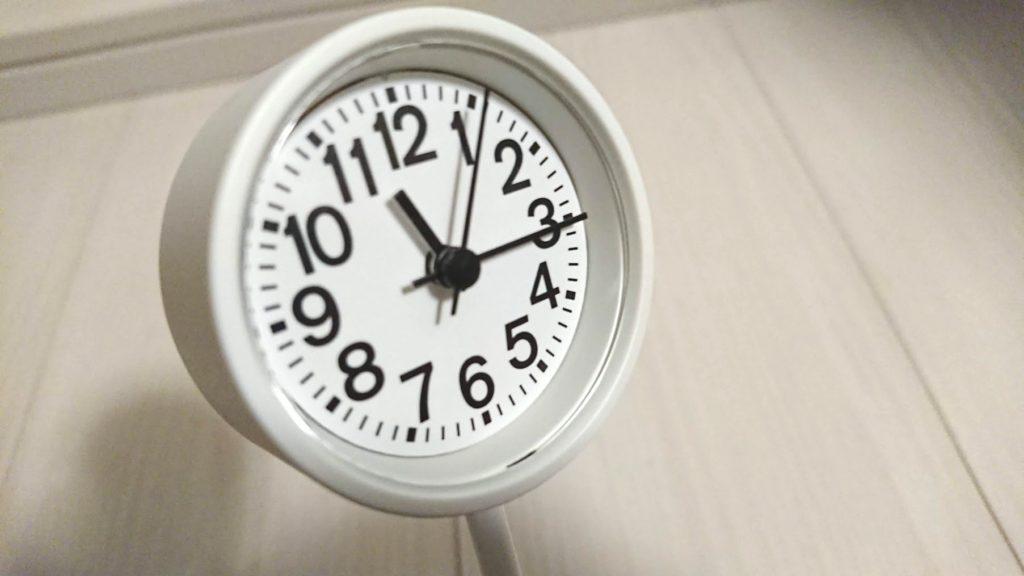 公園の時計・ミニの文字盤。