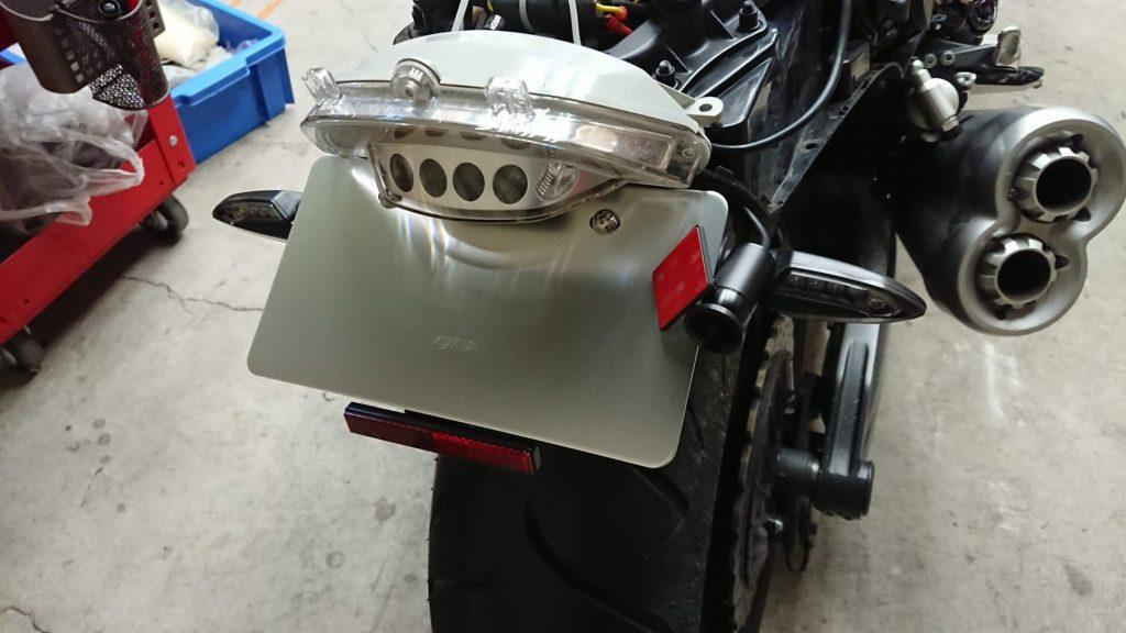 VSYSTO P6FのためにKijimaのナンバープレートを装着。