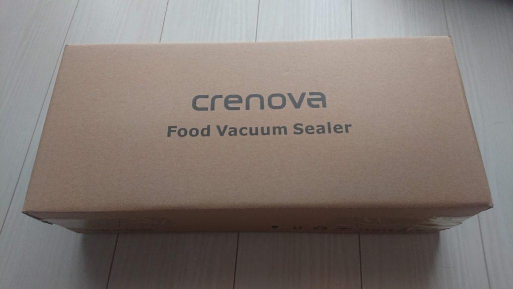 Crenova「V60 真空パックシーラー」のパッケージはシンプル。