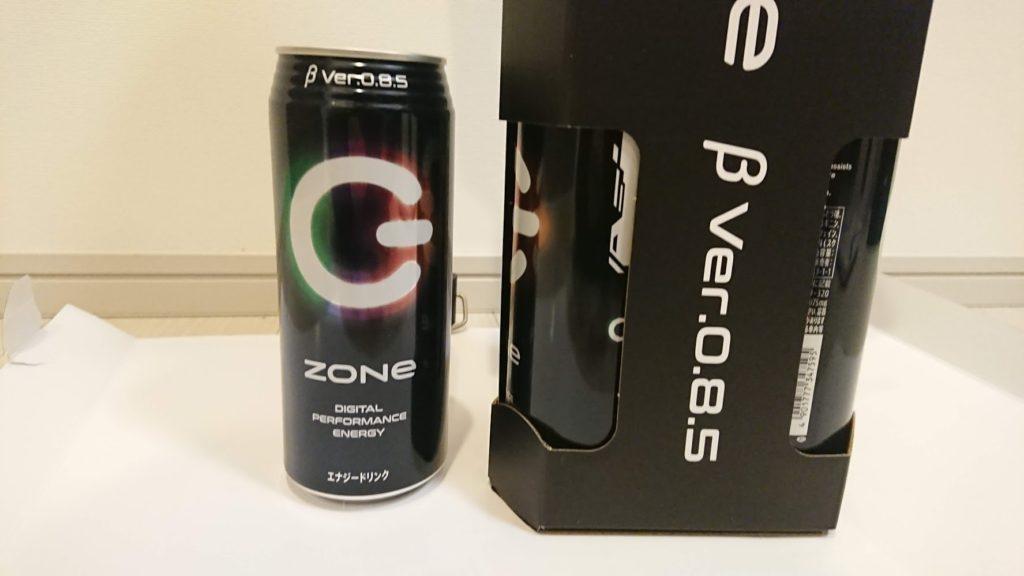 サントリー「ZONe β Ver.0.8.5」の缶。