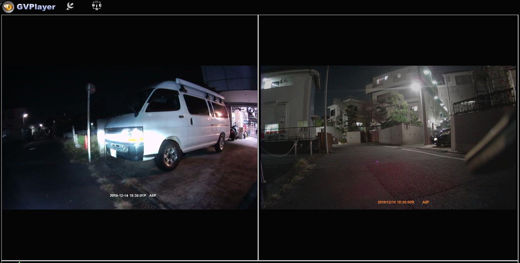 Vsysto「P6F-進化版」の夜間映像。