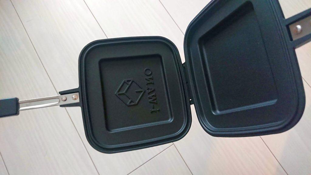 i-WANO「ホットサンドメーカー」を開いたところ。