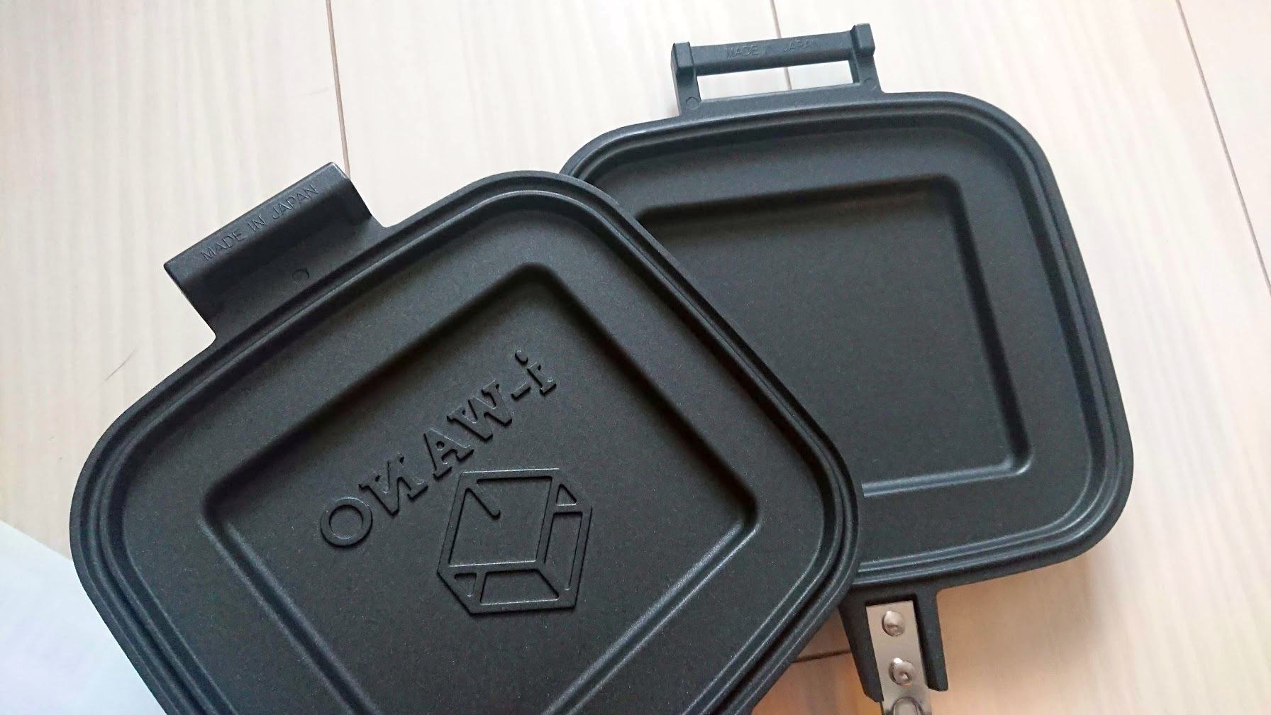 i-WANO「ホットサンドメーカー」は2枚のフライパンにもなる。