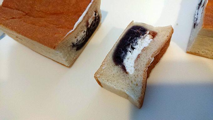ヤマザキ「中身たっぷり四角いパン」の断面図2。