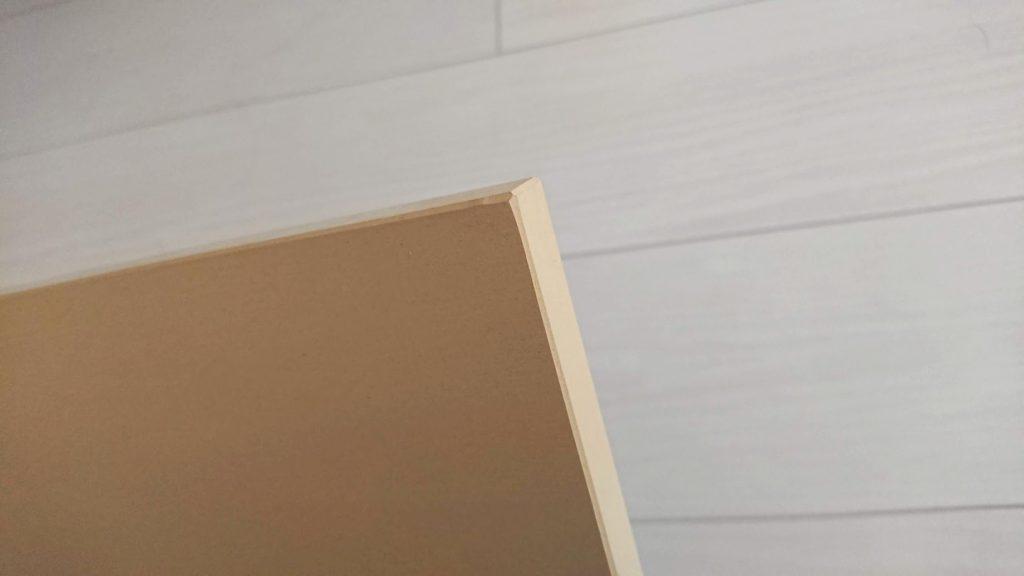 COCOCORO「ゴムまな板」のエッジ部分。