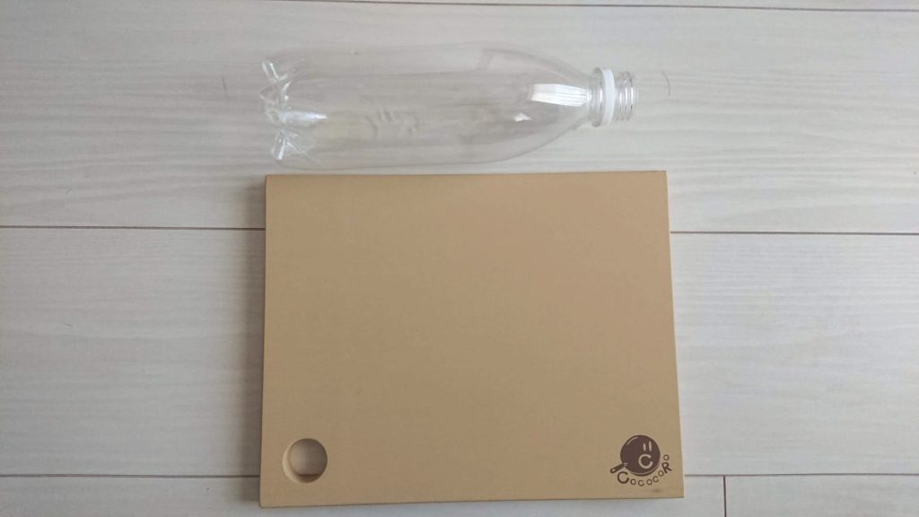 COCOCORO「ゴムまな板」の大きさ比較。