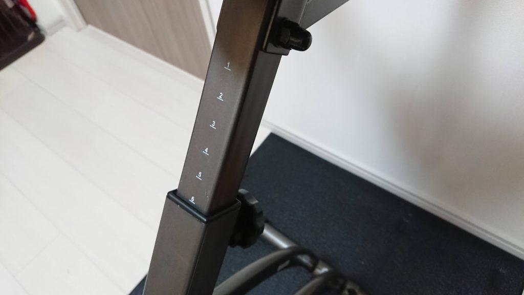アルインコ「クロスバイクAFB4520K」のシートは7段階で調節可能。