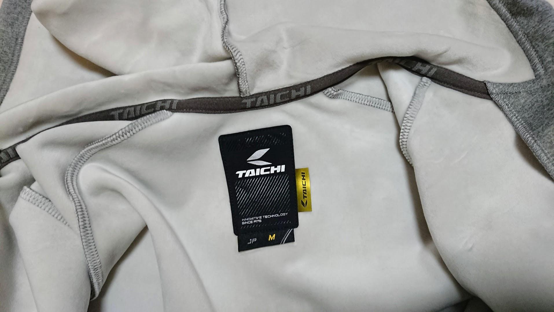 RS Taichi「ウォームライド フーデッド シャツ RS624」の内側。