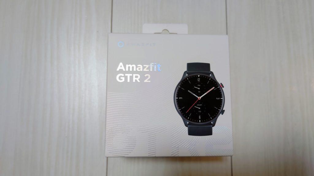 Amazfit「GTR2」のパッケージ。